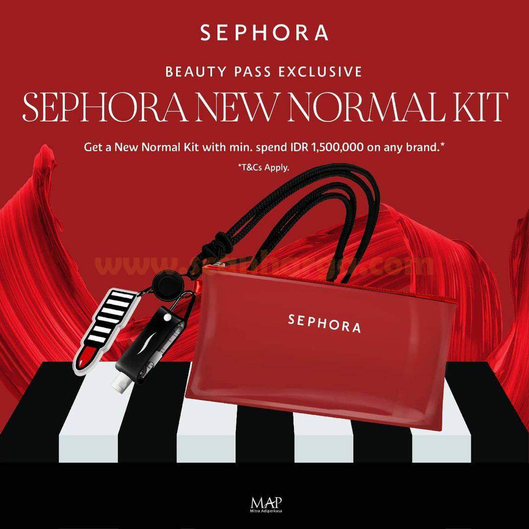 SEPHORA Promo Lunar New Year - Get Sephora New Normal Kit with min. spend IDR 1,500,000