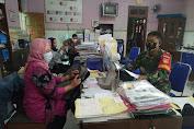 Babinsa Koramil 23/Ceper Sosialisasi Protokol Kesehatan Ke Perangkat Desa