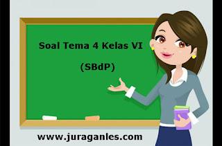 Berikut ini adalah contoh latihan Soal Tematik Kelas  Soal Tematik Kelas 6 Tema 4 Kompetensi Dasar SBdP