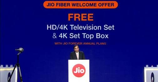 MyJio app on play store for register your Free jio fiber cable Connection