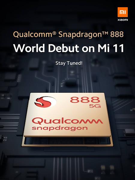 Xiaomi confirma o novo Snapdragon 888 para a serie Mi 11