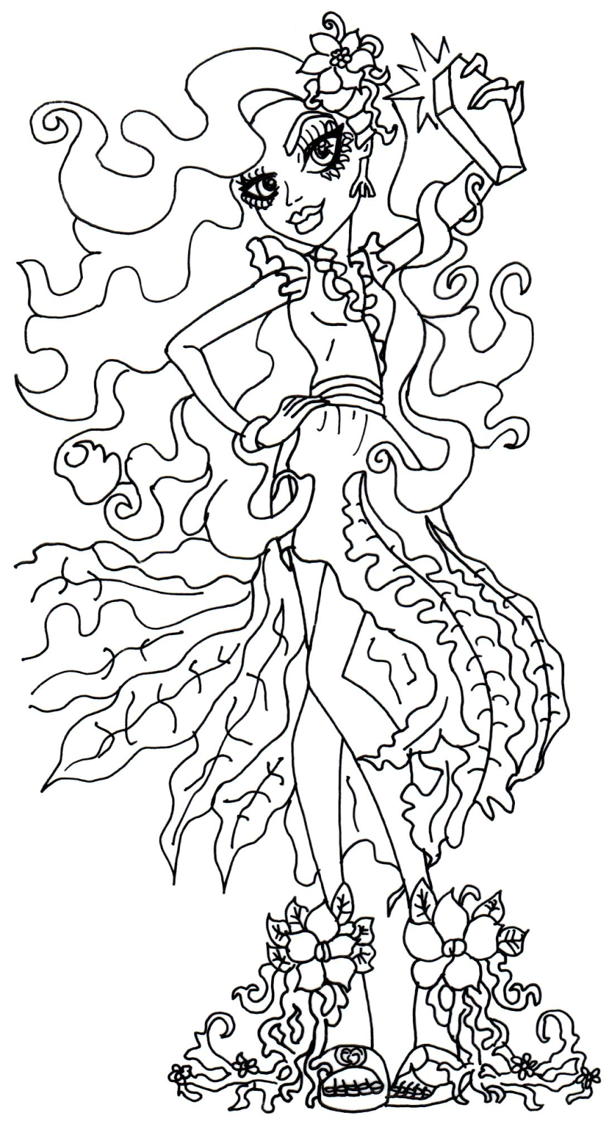 Monster High Nefera Coloring Pages Frankie Stein Mtm