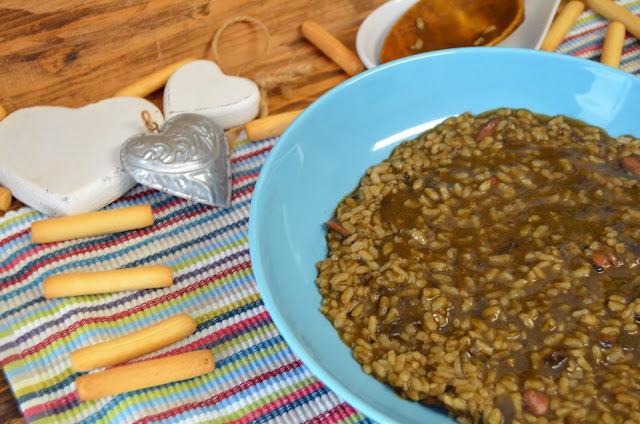 arroz con calamares en su tinta, arroz con calamares en su tinta de lata, arroz con calamares en su tinta de lata receta, arroz con calamares en su tinta fácil y rápido, las delicias de mayte,