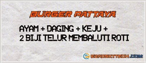 Menu Burger Pattaya