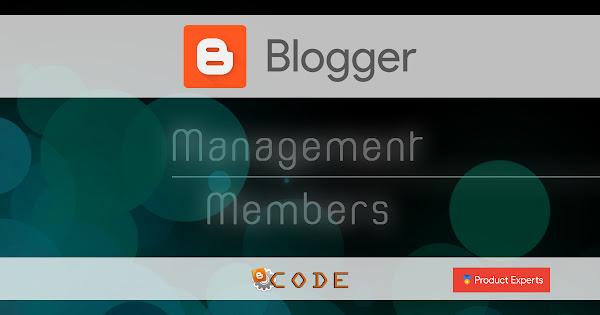 Blogger - Gestion des membres d'un blog