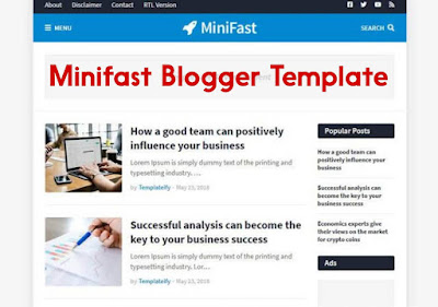 Minifast Blogger Template