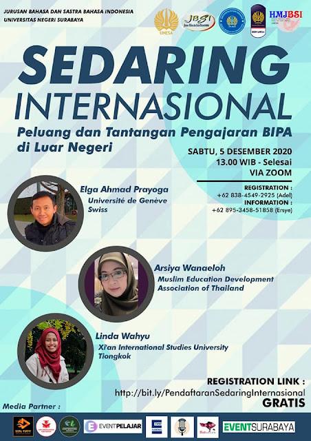 Webinaire sur l'enseignement de la langue indonésienne à l'international