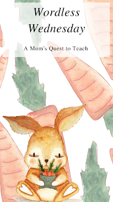 A Mom's Quest to Teach: Wordless Wednesday: carrot clip art background; bunny clipart