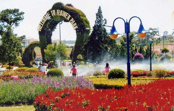 vườn hoa trung tâm Đà Lạt