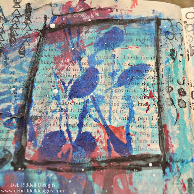 Listen Mixed Media Art Journal Page Detail