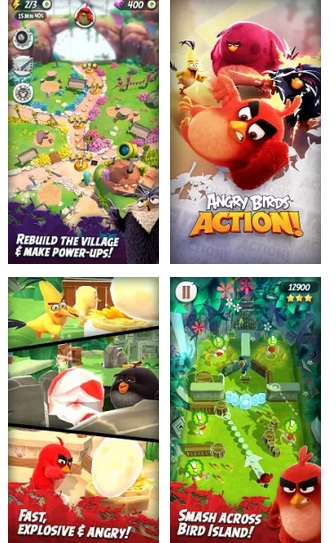 Game Offline - Angry Birds Action! MOD APK+DATA Android Unlimited Money