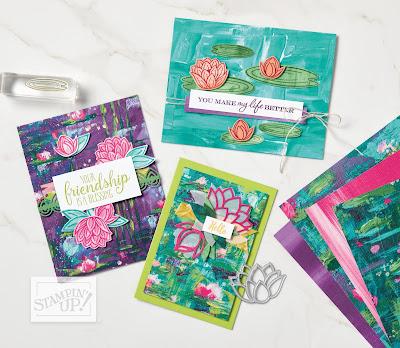 Stampin' Up! Lily Impression Designer Paper ~ 2020 Sale-a-Bration ~ Free Gift with $50 Order ~ http://juliedavison.com/shop