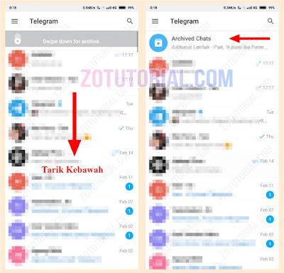 Cara Memunculkan Chat Telegram Yang di Arsipkan zotutorial
