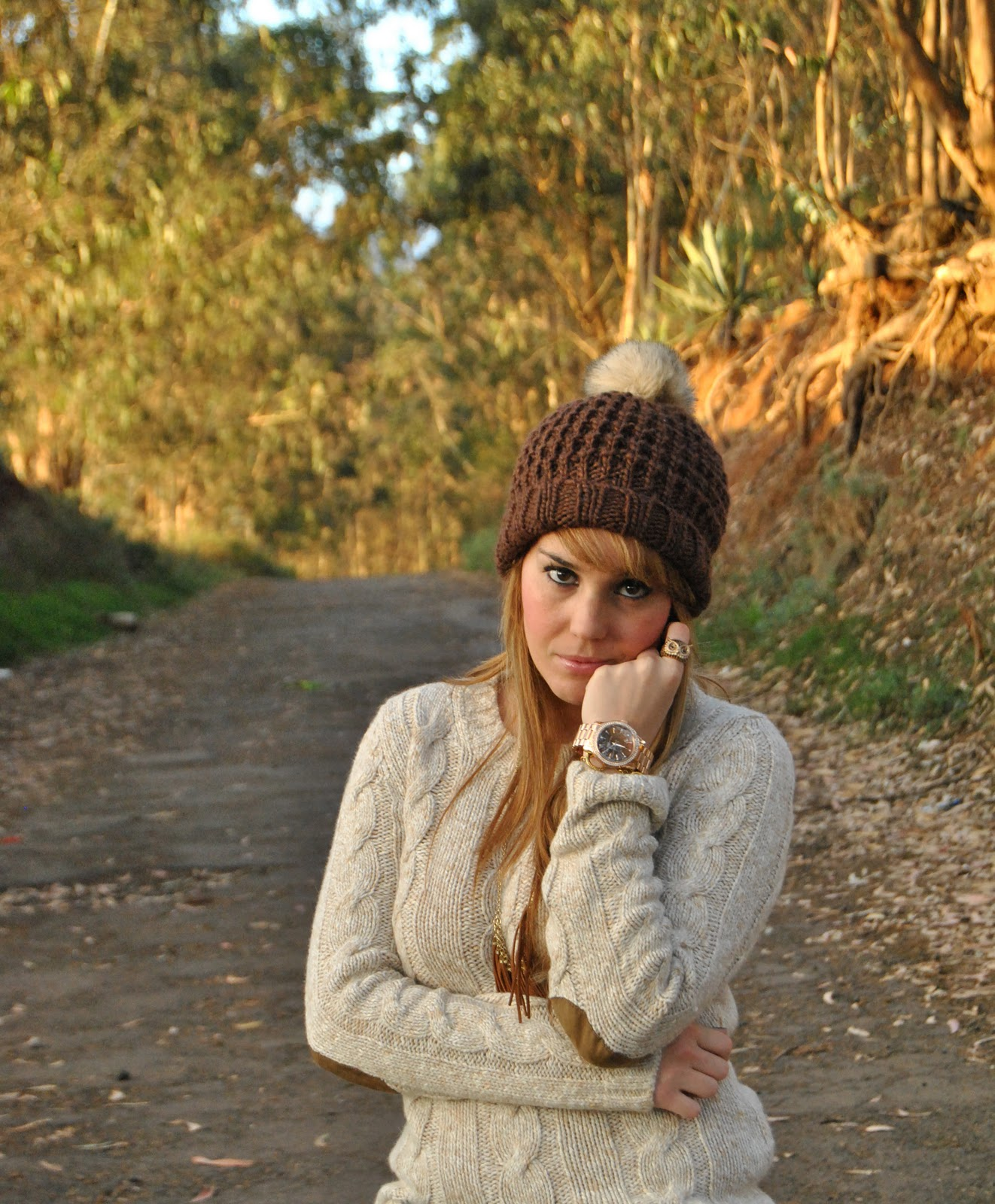 nery hdez, winter look , beany,