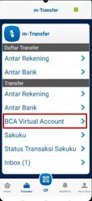 Halaman m-Transfer Di Aplikasi m-BCA