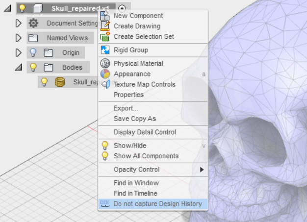 DiscoverThat: Fusion 360 Mesh to Body