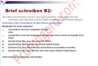 B2 Beschwerde Brief über Hotel