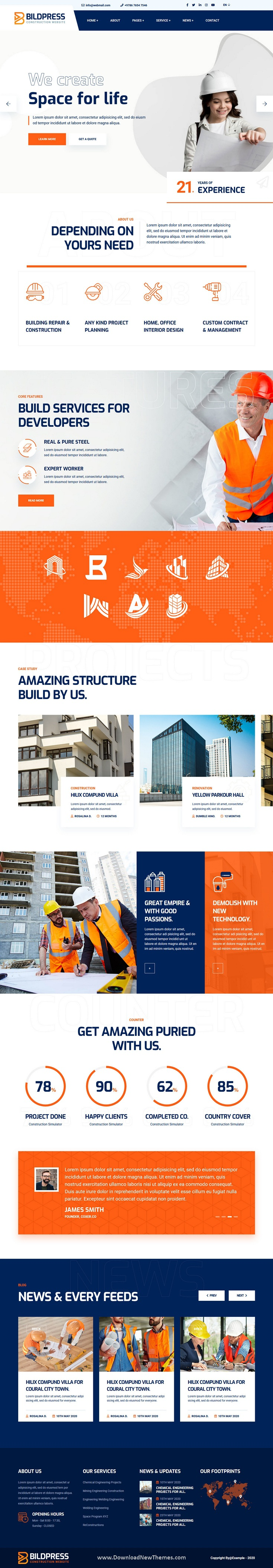 Construction & Architecture HTML Template