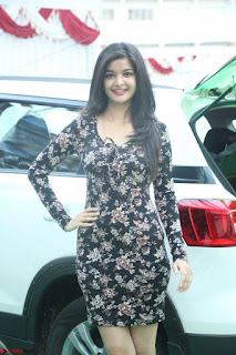 Kritika Telugu cinema Model in Short Flower Print Dress 072.JPG