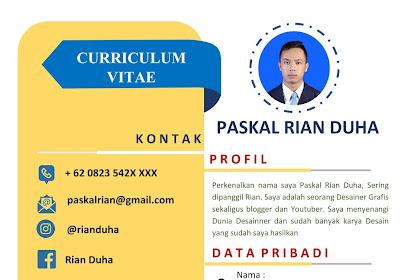 Download Template CV Lamaran Kerja Untuk Fresh Graduate Yang Baru Lulus SMK, SMA atau Kuliah