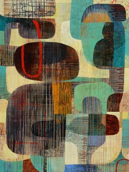 "Claire B Cotts, ""Shrove Tuesday"" | obras de arte abstracto organico contemporaneo, pinturas abstractas, imagenes | art selecta pictures inspiration"