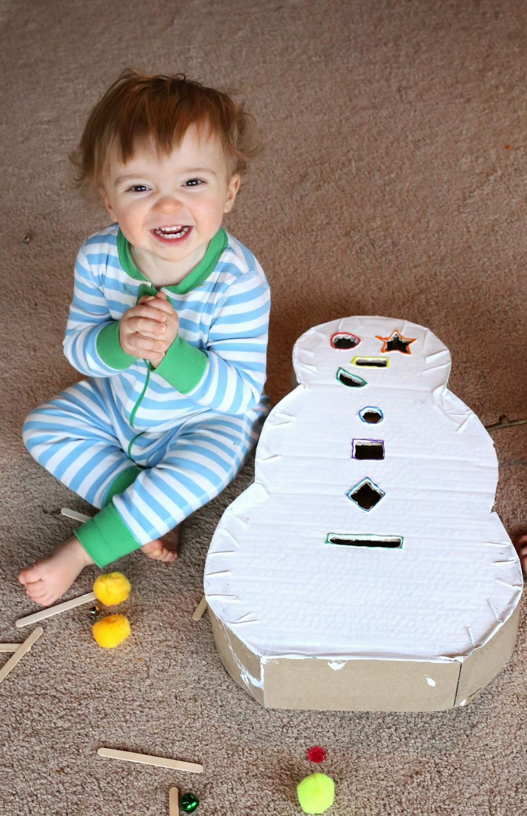 Diy Toddler Toy Snowman Drop Box