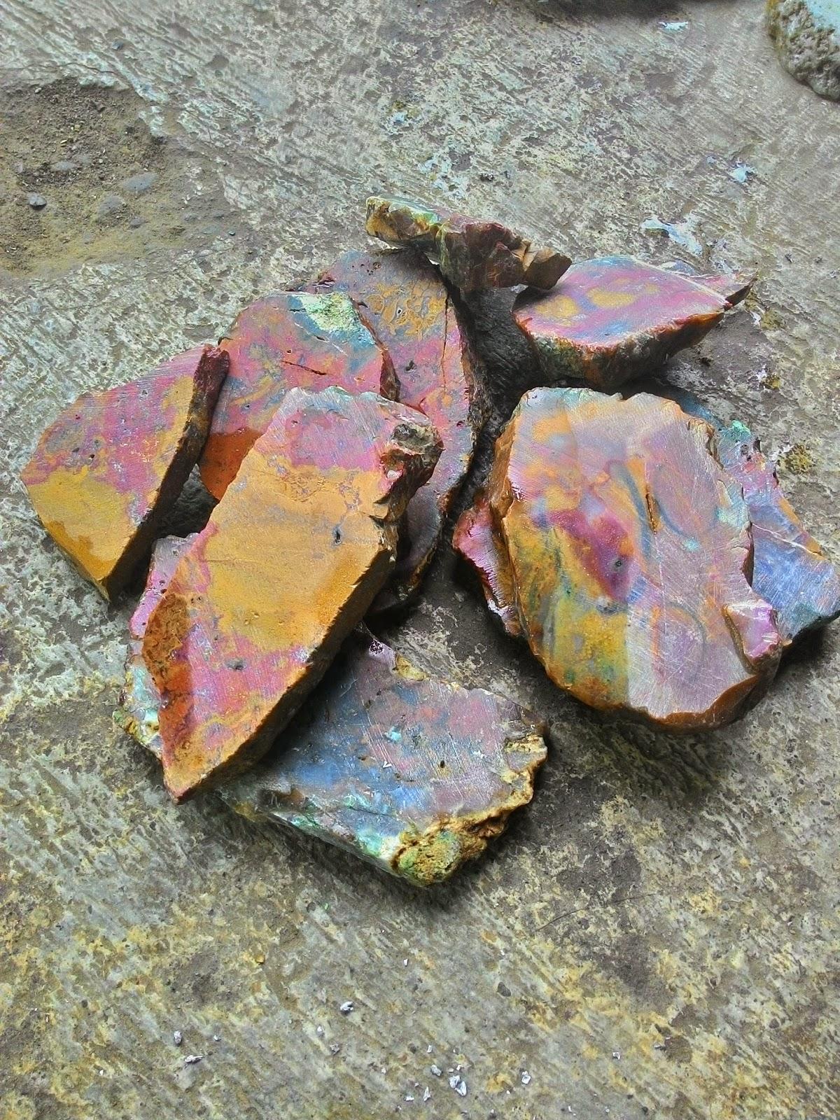 Jual Bahan dan Batu Cinicin Akik Panca warna klawing ...