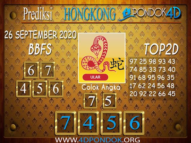 Prediksi Togel HONGKONG PONDOK4D 26 SEPTEMBER 2020