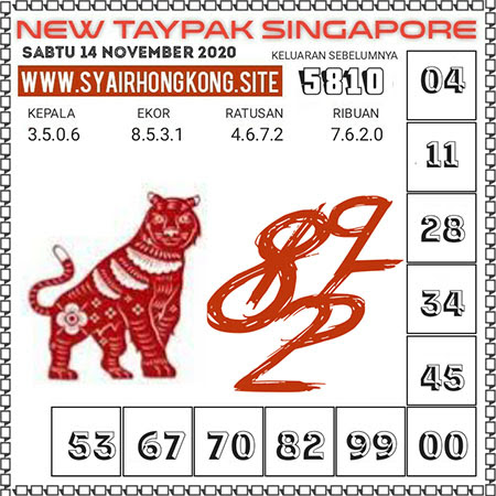 Prediksi Togel New Taypak Singapura Sabtu 14 November 2020