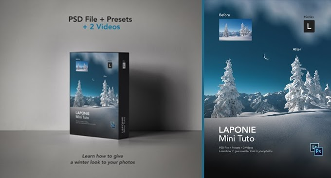 Gumroad – Laponie Photoshop Tutorial – [Include's Presets, Videos and PSD File]