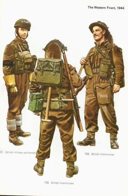 Late War British Infantry Uniforms
