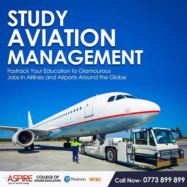 Study Aviation Management at Aspire College.