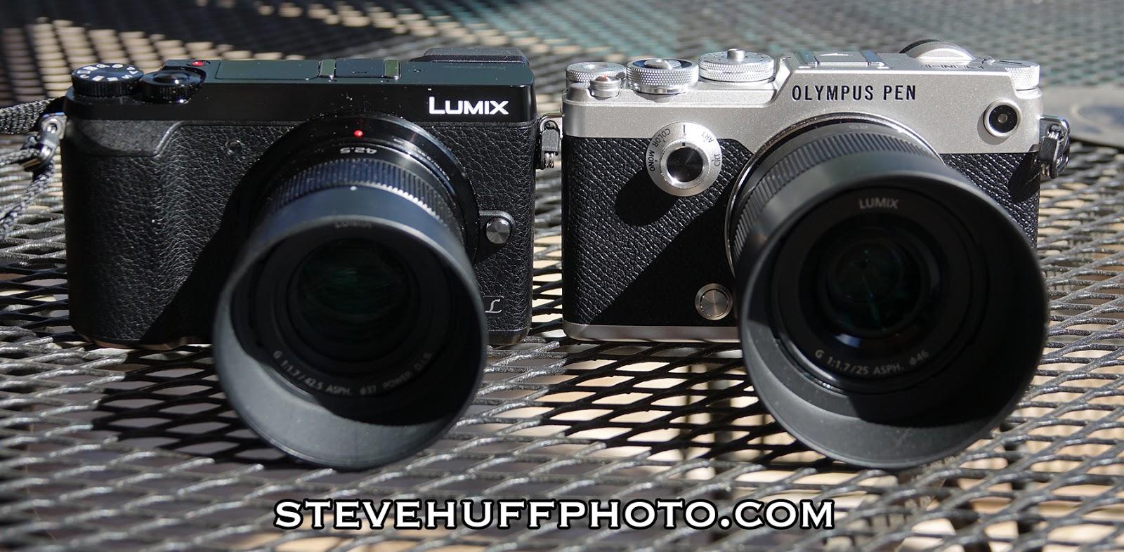 Lumix GX85 и Olympus Pen F