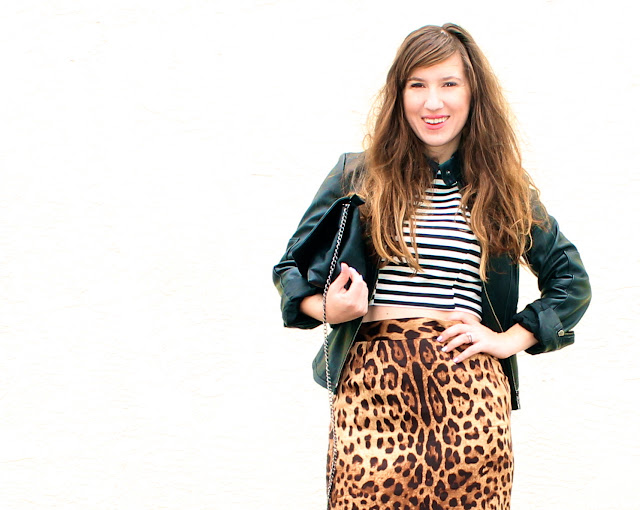 leopard pencil skirt