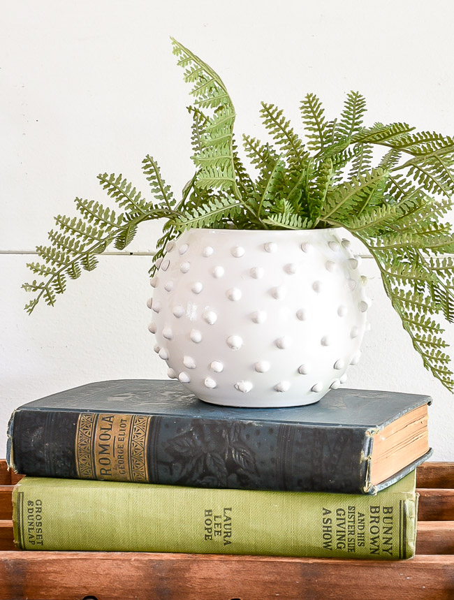 DIY Hobnail Milk Glass vase