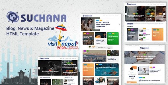 Blog, News & Magazine HTML Template