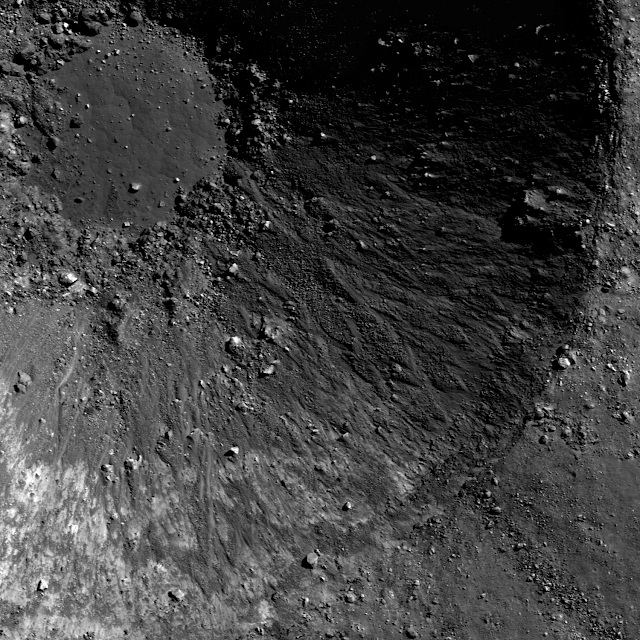 The NASA photo with a Triangle UFO inside the crater on the Moon.