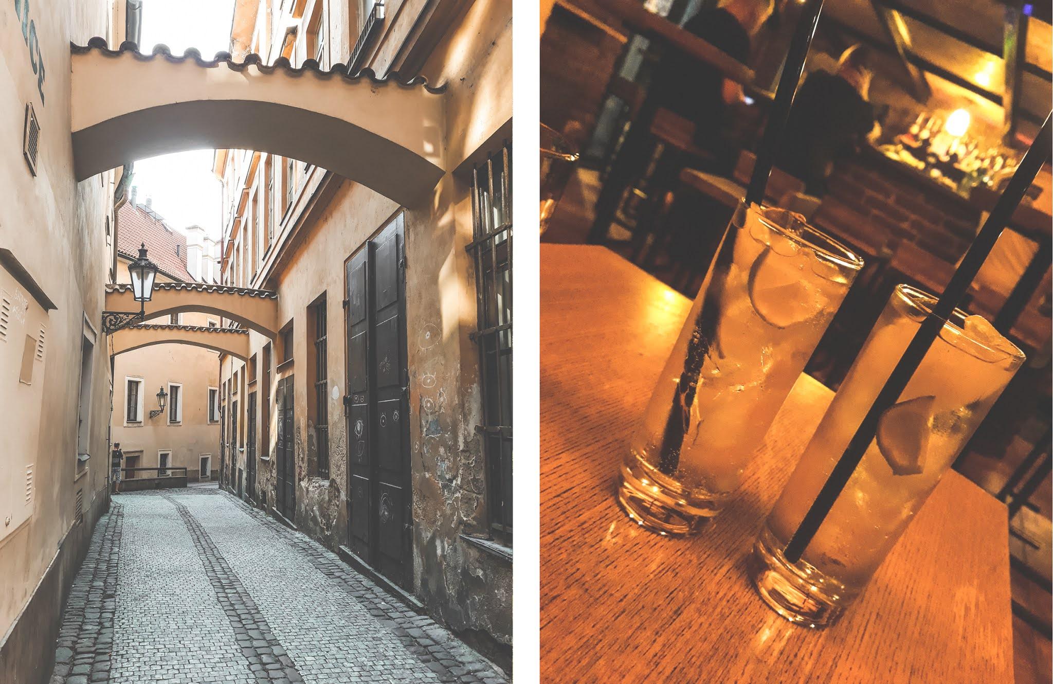 Pražské uličky a bary
