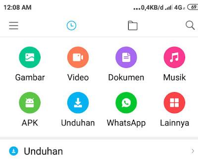 Menu Filemanager Di Android