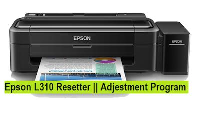 Resetter Epson L310 Epson Adjustment Program