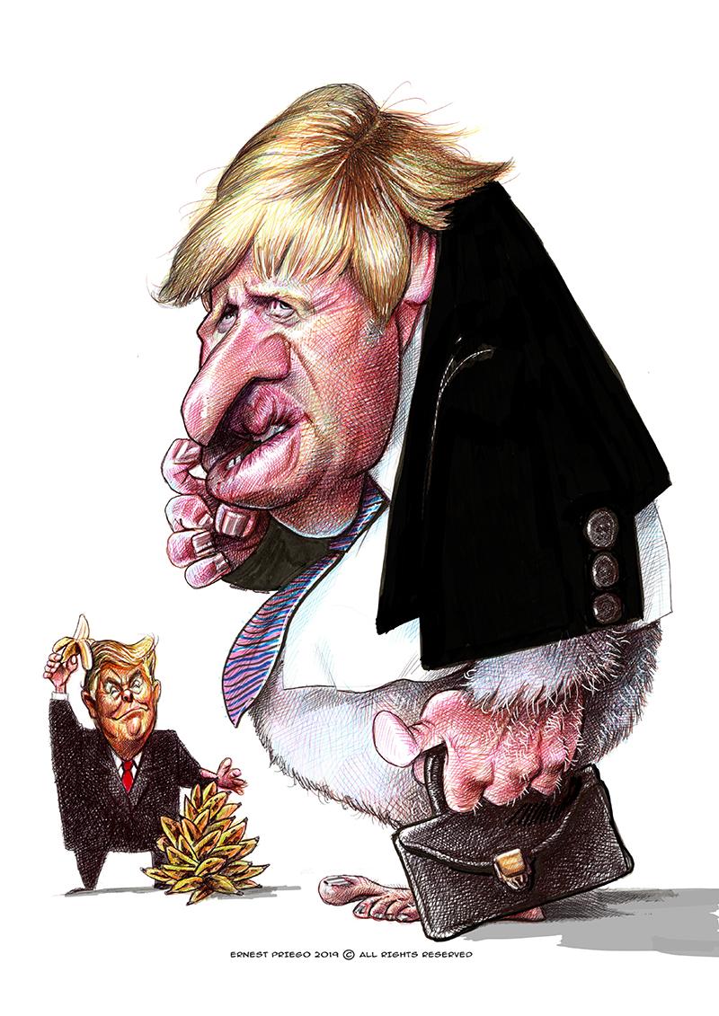 Resultado de imagen para Caricaturas de Boris Johnson