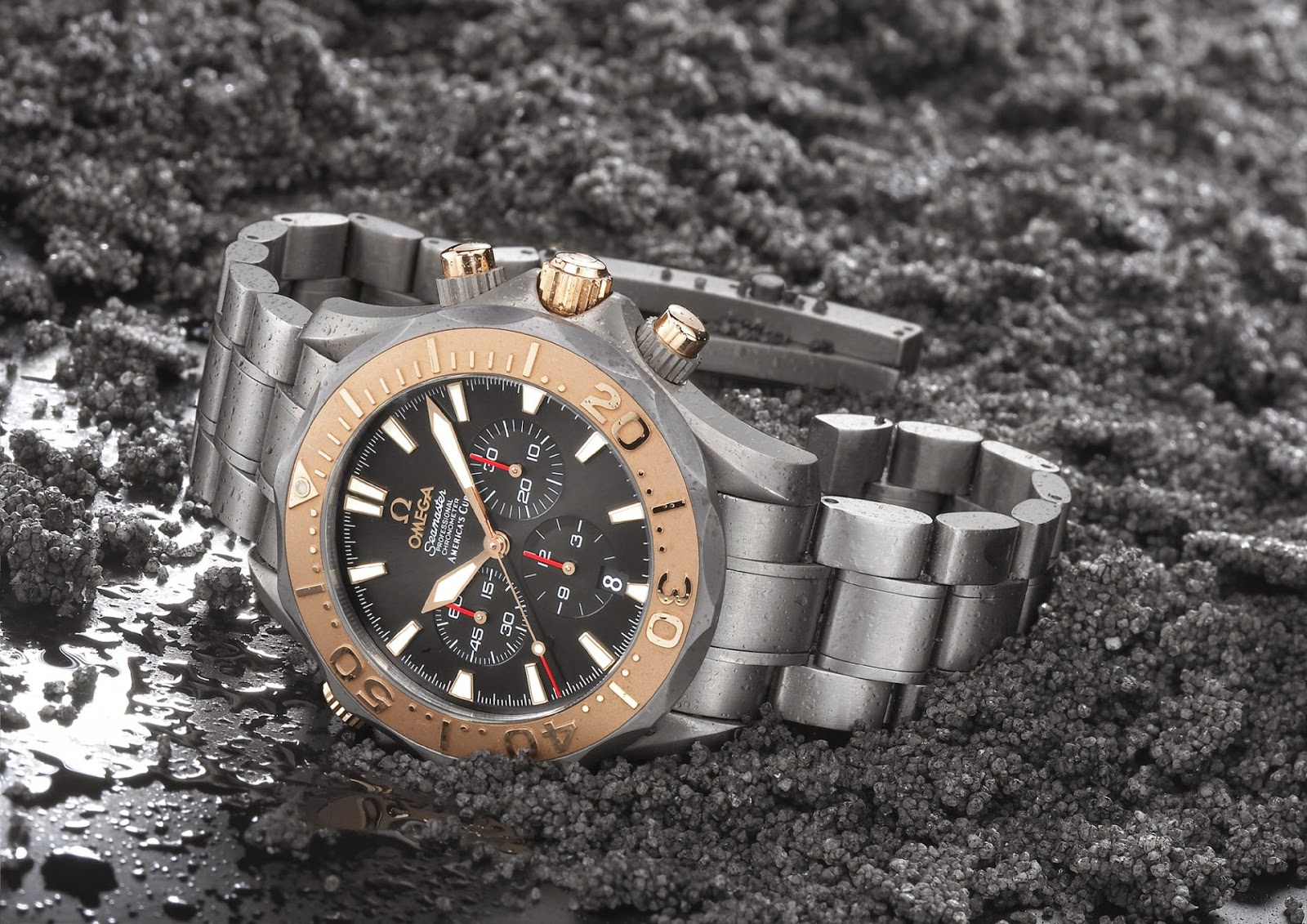 OMEGA America's Cup Collection 2002 - The OMEGA America's Cup Chronograph and the America's Cup Racing Chronograph
