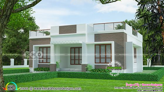 Flat roof one floor 3 bedroom home 1148 sq-ft