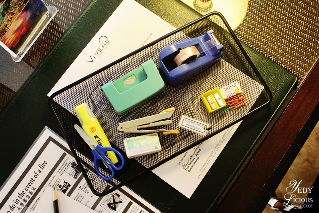 Office Supplies at Vivere Hotel