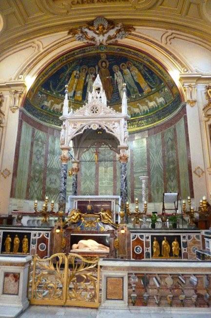 Sta Cecilia ciborio altar - Santa Cecilia em Trastevere