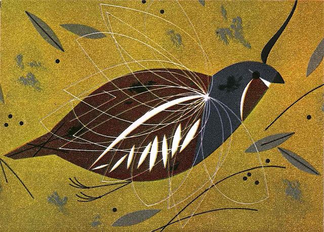 A Charles Harper illustration of a flying bird