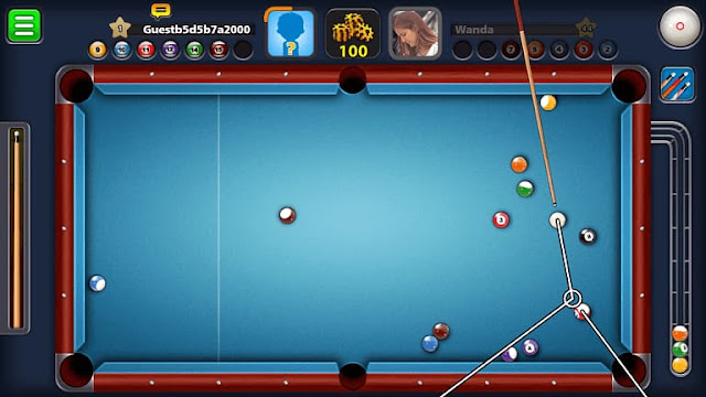 Extended Stick Guideline 8 ball pool Mod Apk