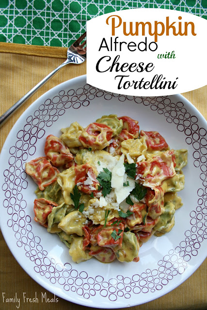 Pumpkin Alfredo with Cheese Tortellini