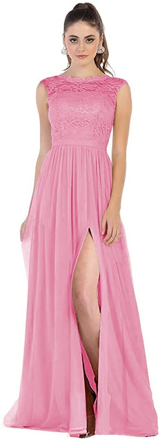 Good Quality Lace Chiffon Bridesmaid Dresses