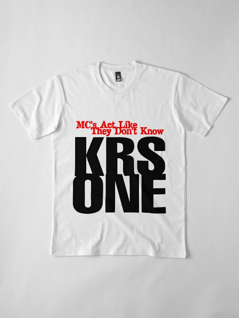 KRS ONE - MC'S ACT LIKE THEY DON'T KNOW TSHIRT